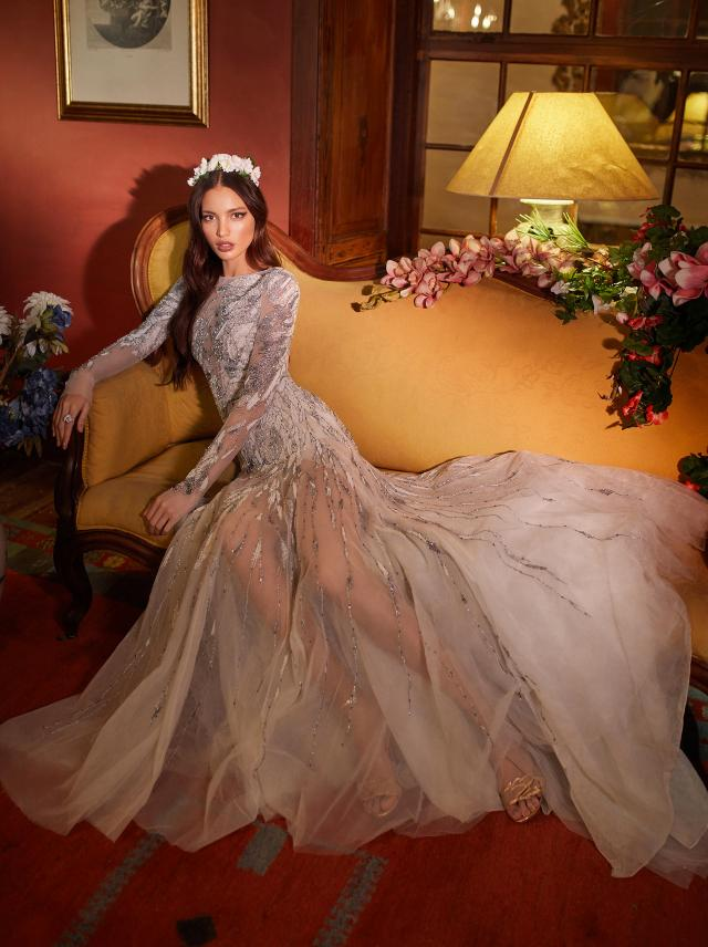 Emrys- Long sleeve wedding dress