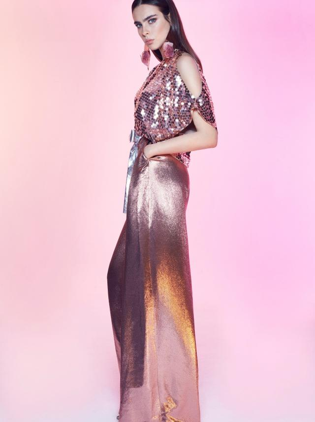 Galia Lahav - Night Flare - Octagon Sequins Top
