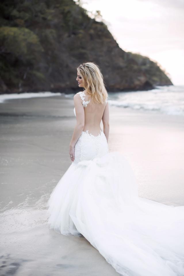 Allie Jeff Beach Wedding Galia Lahav - Bride of the Day