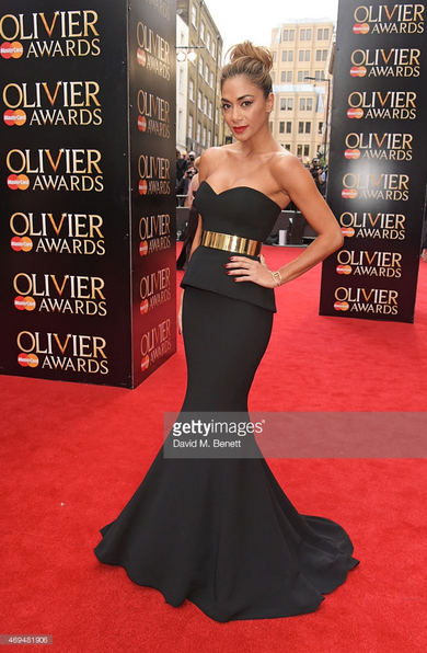 Nicole Scherzinger Red Carpet Look in Galia Lahav