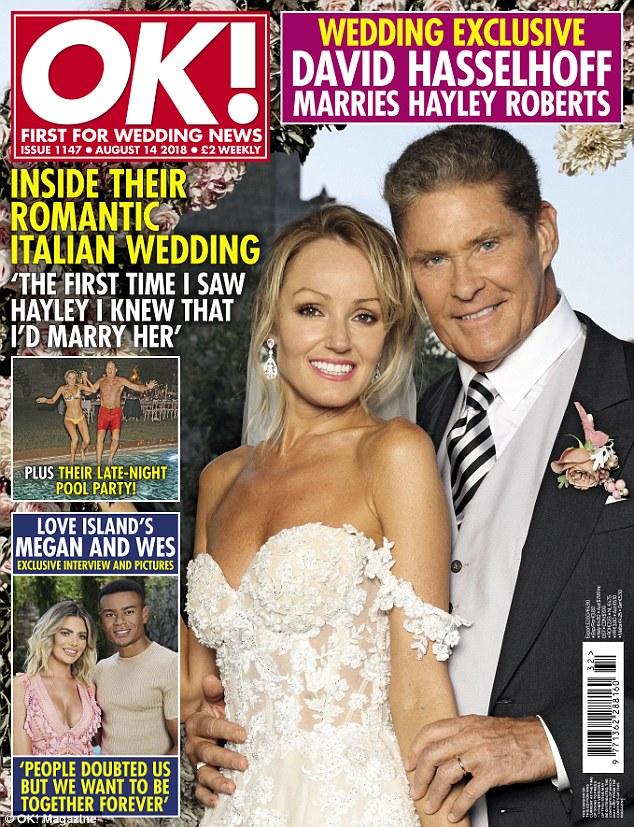 David Hasselhoff and Hayley Roberts Wedding - Galia Lahav