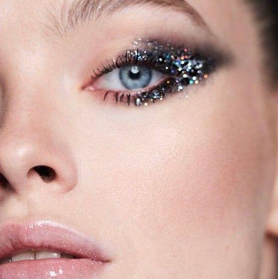 glitter on eyes