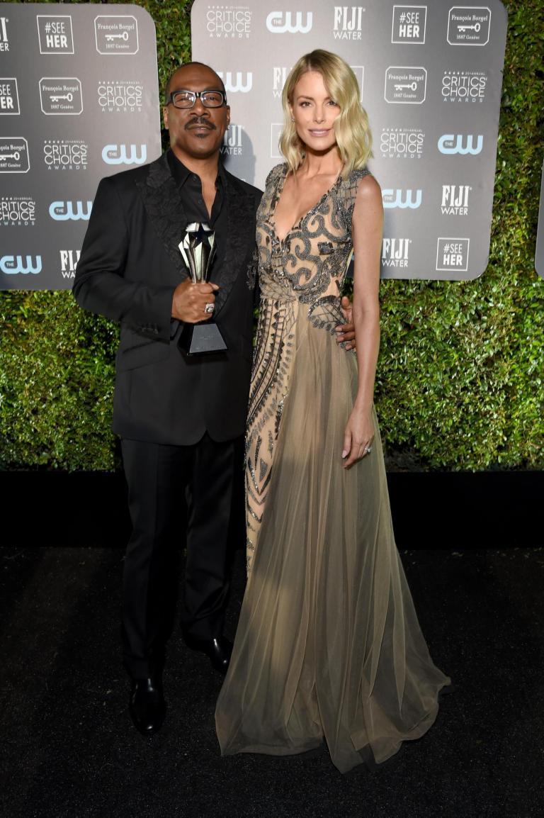Paige Murphy wearing Galia Lahav while attendig the Critics Choice Awards 2020
