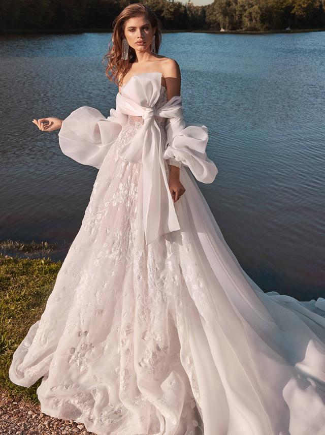 Meghan Fancy White Bridal Dresses Galia Lahav